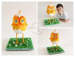 Crazy Chicken - Cake by Zaneta Wasilewska