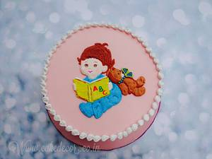 A cute cake with Royal icing - Cake by Prachi Dhabaldeb