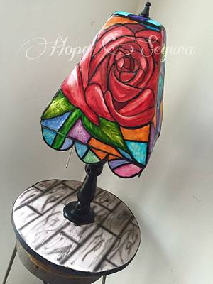 Stained glass Lamp cake  - Cake by Hope Segura