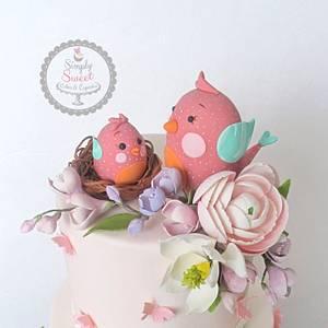Tweet Baby Girl - Cake by SimplySweetCakes