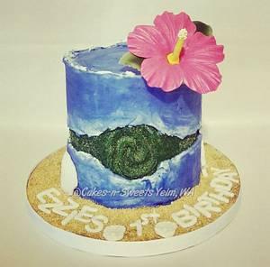 Heart of Tefiti fault line cake - Cake by Teresa Frye
