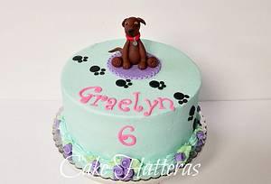 Graelyn's Puppy Cake - Cake by Donna Tokazowski- Cake Hatteras, Hatteras N.C.