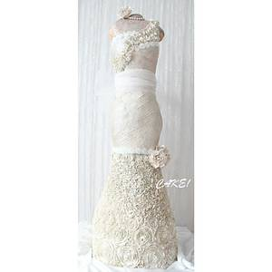 4 Foot Tall Wedding Dress Cake  - Cake by Cake! By Jennifer Riley