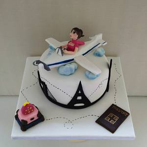 Travel Girl - Cake by nef_cake_deco