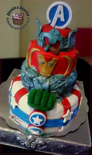 My Heroes Avengers Cake - Cake by Alondra Aguilar