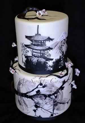 Japanese themed cake - Cake by Cosette