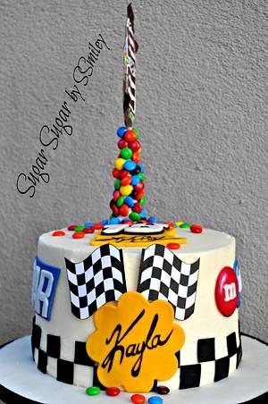 Kyle Busch / NASCAR Birthday Cake - Cake by Sandra Smiley