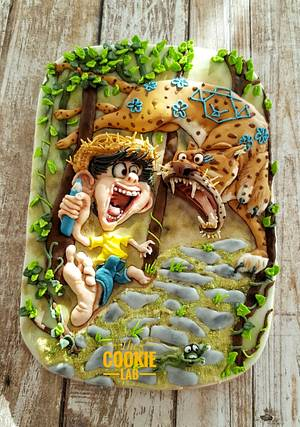 Chico Bento e a Onça...... Comic Con International Collaboration - Cake by The Cookie Lab  by Marta Torres
