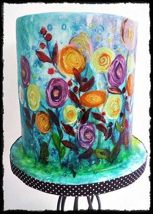 Abstract flowers  - Cake by Time for Tiffin