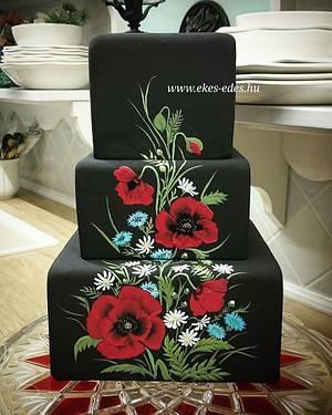 Poppies - Cake by Aniko Vargane Orban