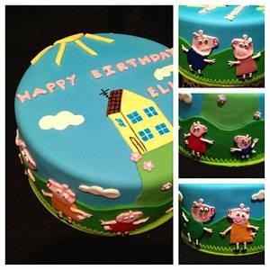 2d Peppa  - Cake by Trickycakes