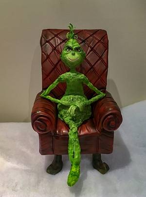 Grinch Christmas  - Cake by  Sue Deeble