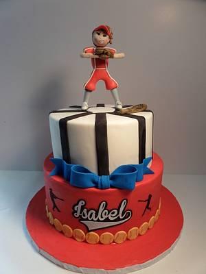 Softball Girl Cake - Cake by Isolda's Custom Cake Design