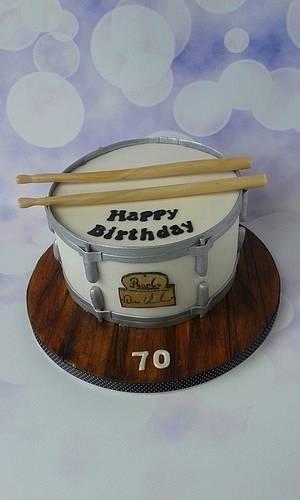 Drum cake - Cake by Jenny Dowd