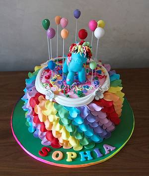 Rainbow Dash - Cake by Joyliciouscakes