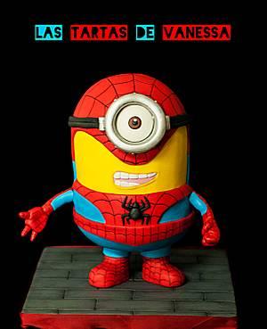Minion Spiderman - Cake by Vanessa Rodríguez