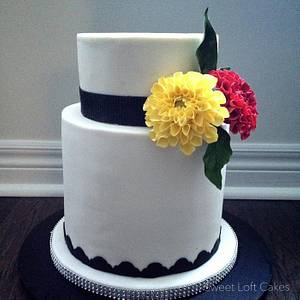 Dahlia Cake - Cake by Heidi