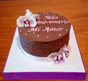 TARTA CHOCOLATE ORQUIDEAS - Cake by Camelia