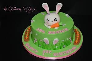 Kawaii Bunny Cake - Cake by Mommy Sue