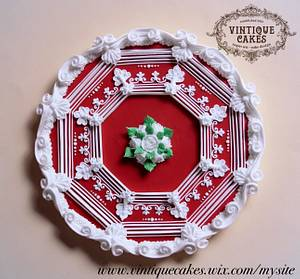 Red Ruby Vintage Cookie - Cake by Vintique Cakes (Anita)