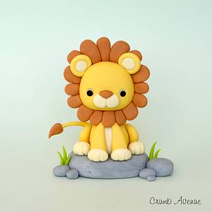 Lion Cake Topper - Cake by Crumb Avenue