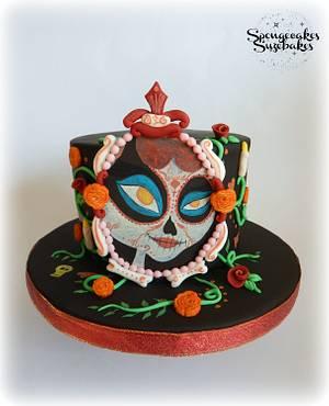 The Book of Life La Muerte  - Cake by Spongecakes Suzebakes
