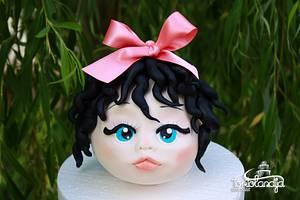 Cute little girl - Cake by Tortolandija