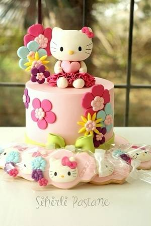 Hello Kitty Cake and Cookies - Cake by Sihirli Pastane