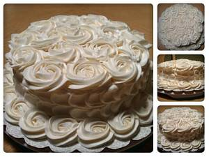 Rose/petal effect - Cake by First Class Cakes