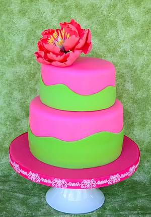 My First Peony Flower - Cake by Sweet Creations by Sophie