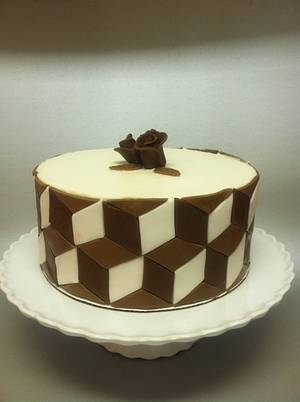 Optical Illusion - Cake by Karen Seeley
