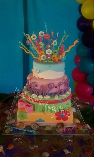Hawaiian quinceañera cake - Cake by Marie