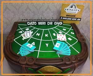 Baccarat Casino Table - Cake by Mel_SugarandSpiceCakes