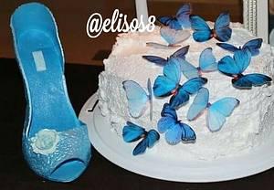 Blue Butterflies - Cake by Elisos