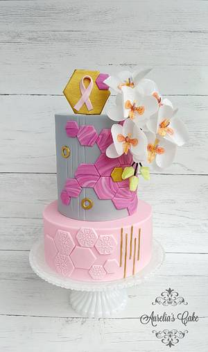 World Cancer Day Sugarflowers and Cakes in Bloom - Nothing is impossible - Cake by Aurelia's Cake
