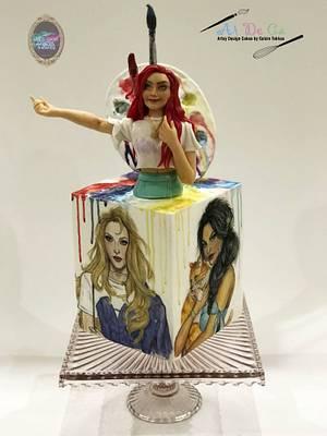 They are not princesses, they are muses.. - Cake by Gulcin Tekkas