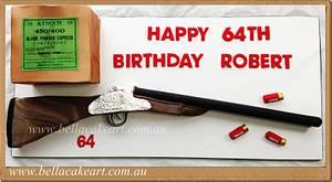 Purdey Rifle Cake - Cake by Bella Cake Art