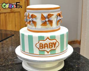 Welcoming Baby - Cake by Cakes For Fun