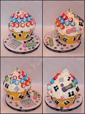Bingo Giant Cupcake - Cake by ClarasYummyCupcakes