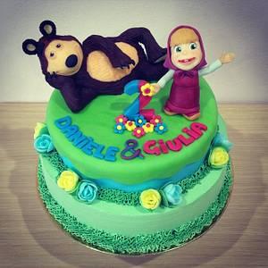 Masha and the bear - Cake by Valeria Antipatico