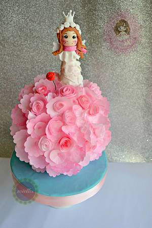 For Yasmine - The Little Princess Angel - Cake by miettes