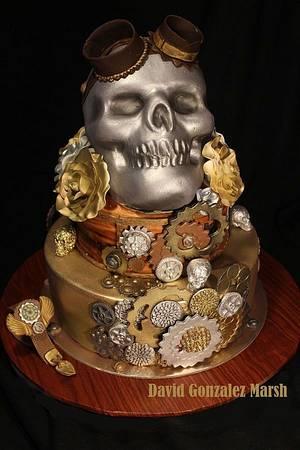 Skull Mechanic - Cake by DavidJaleelCakes