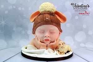 Lambi - chocolate baby bust - Cake by Valentina's Sugarland