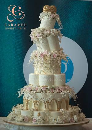 Wedding Cake @ Salon Culinaire Qatar 2017 - Cake by Caramel Doha