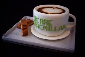 Coffee cup on a tray - Cake by Deb Williams Cakes