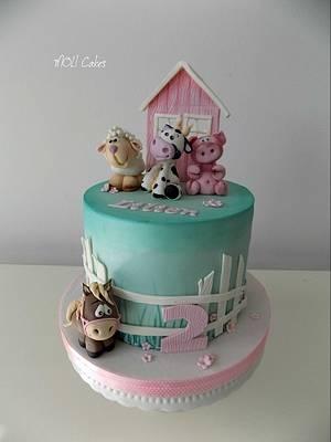 Farm cake  - Cake by MOLI Cakes