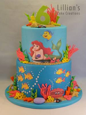 Little Mermaid cake - Cake by Lilly09