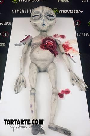 Alien Cake for X-Files Premiere - Cake by TARTARTE