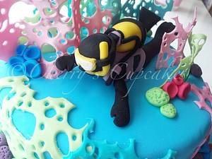 Scuba Diver Cake - Cake by Cherry's Cupcakes