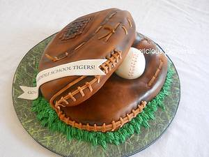 Softball Glove Cake - Cake by DeliciousDeliveries